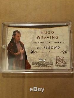 Topps Lord of the Rings Hugo Weaving as Elrond autograph card