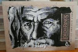 Topps Lord of the Rings Masterpieces 2 Artist Sketch Card Signed Rare Gandolph