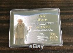 Topps Lord of the Rings ROTK Ian Holm Bilbo Auto Card Autograph Signed