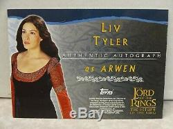Topps Lord of the Rings The Return of the King Arwen Liv Tyler ON CARD Auto