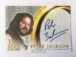 Topps TT Lord Of The Rings Director Peter Jackson Autograph Card Oscar LOTR Auto