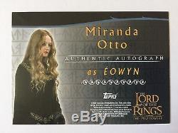 Topps Two Towers Lord Of The Rings Miranda Otto / Eowyn Autograph Card LOTR Auto